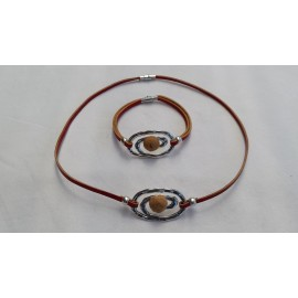 Parure spirale collier + bracelet