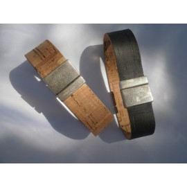 Bracelet cordon liège attache aimant 20mm